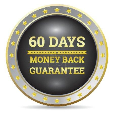 Money back guaranteed label...