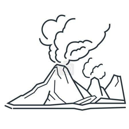 volcano flat icon, vector illustration