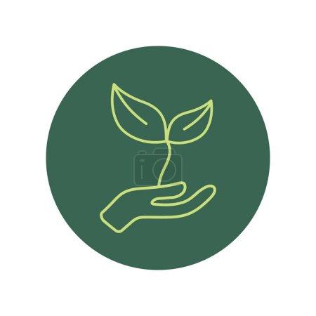 eco friendly icon, stylized vector illustration