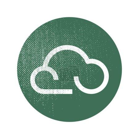 Cloud flat icon, vector illustration
