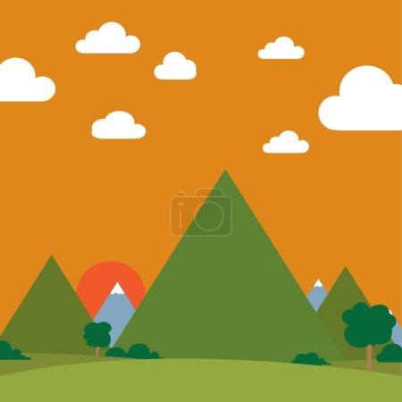 Landscape stylized vector illustration