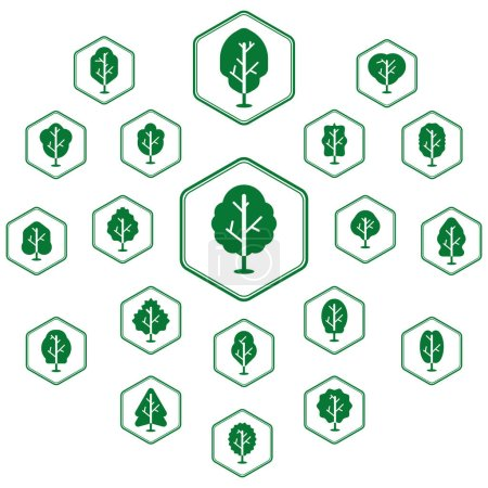 Collection of tree icons