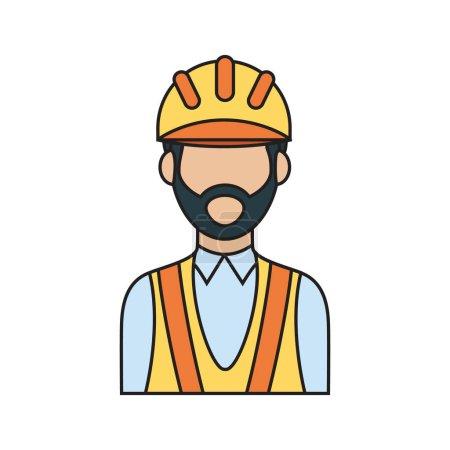 Travailleur de la construction illustration vectorielle stylisée
