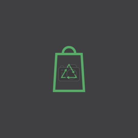 Recycle bag flat icon, vector illustration