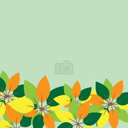 Leaves stylized vector illustration