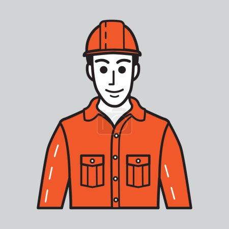 travailleur de la construction, illustration vectorielle de conception