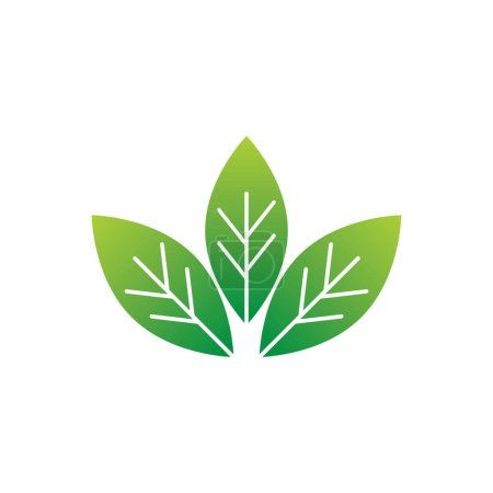 leaves flat icon, vector illustration