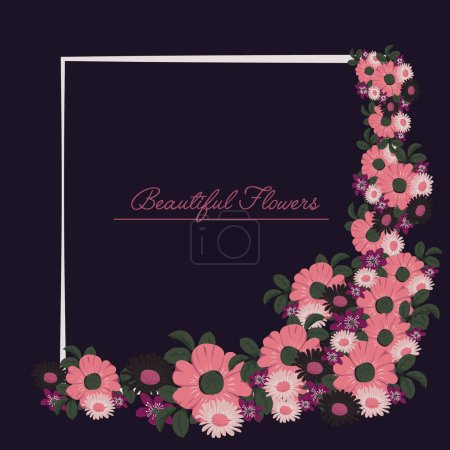 Illustration for Vector illustration of a floral background - Royalty Free Image