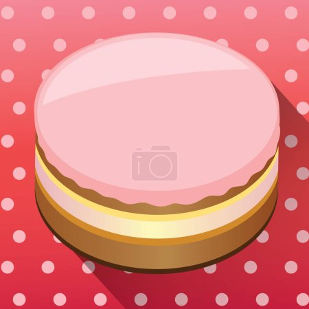 Illustration for Vector illustration of a cake - Royalty Free Image