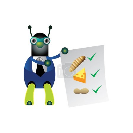 Robot icon in cartoon style isolated on white back...