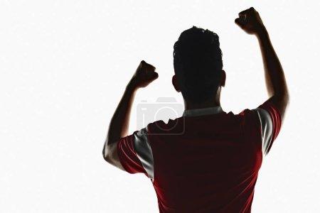 Foto de Un jugador de fútbol animando - Imagen libre de derechos