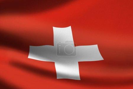 Photo pour Drapeau Suisse agitant la bannière - image libre de droit