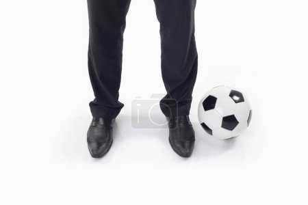 Photo for Soccer manager with a ball - Royalty Free Image