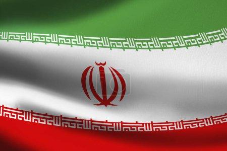 Photo pour Drapeau de l'Iran agitant la bannière - image libre de droit