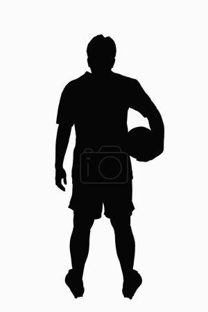Foto de Silueta de un jugador de fútbol - Imagen libre de derechos