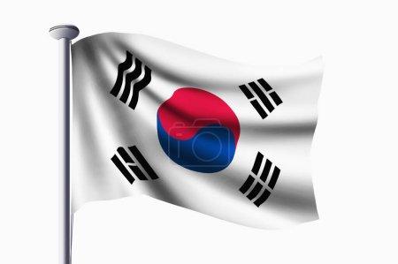 Foto de Corea Bandera de la República ondeando bandera - Imagen libre de derechos