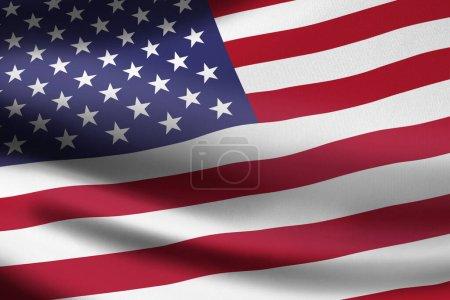 Photo pour Drapeau des États-Unis d'Amérique agitant la bannière - image libre de droit