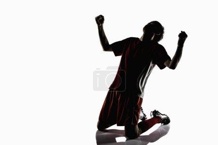 Foto de Un jugador de fútbol celebrando - Imagen libre de derechos