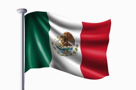 Foto de Bandera de México ondeando bandera - Imagen libre de derechos