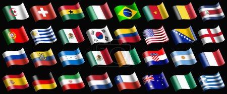 Foto de Varias banderas que representan al país - Imagen libre de derechos