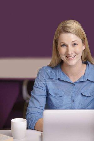Photo pour Femmes d'affaires travaillant sur ordinateur portable - image libre de droit