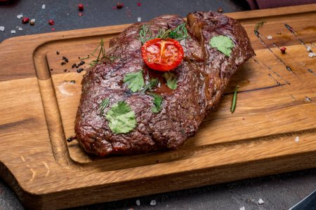 Photo for Juicy Ribeye steak close-up view - Royalty Free Image