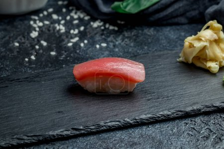 Photo for Sushi tuna on a plate - Royalty Free Image