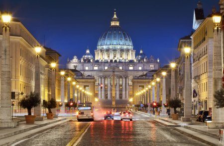 Photo for Via della Conciliazione and St. Peter's Basilica in the Vatican City, Rome, Italy, Europe. - Royalty Free Image