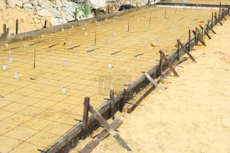 steel reinforcement nets for construction or scenic wire mesh steel for industry background.