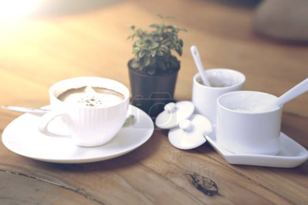 Photo for Cup of coffee on the morning table - Royalty Free Image