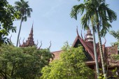 red roof of Cambodian National Museum in city of Phnom Penh, Cambodia