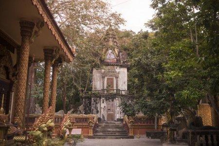 Phnom Santuk Temple near of the city of Kampong Thom of Cambodia
