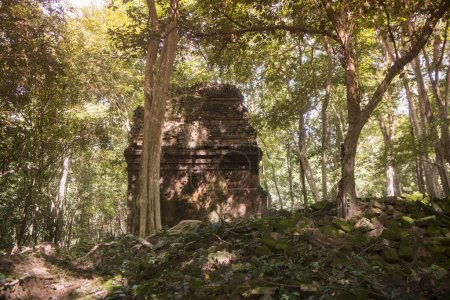 Khmer ruins of the Sambor Prei Kuk Ruins north of the city of Kampong Thom of Cambodia