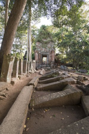 Khmer Temples of Koh Ker east of the Town of Srayong west of the city Preah Vihear in Northwaest Cambodia