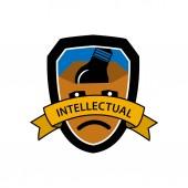 Intellectual protection vector icon shield icon