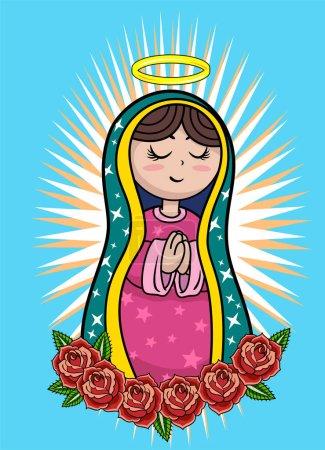 Icône avec l'image de la Vierge Marie (Madonna )