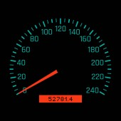 Car speedometer dial Vector illustration