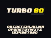 Vector latin uppercase alphabet letters and number Retro 3d font
