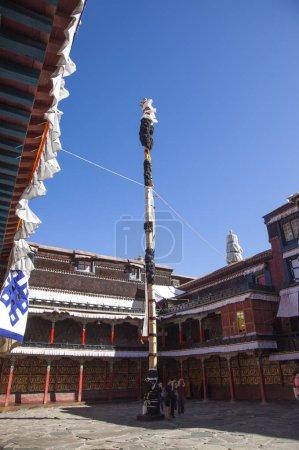 Photo pour Temple chinois traditionnel à kathmandu, nepal - image libre de droit