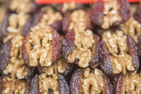 Photo for Close-up of various kinds of dried fruits and nuts - Royalty Free Image