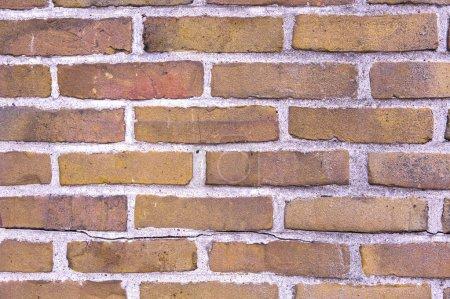 Photo pour Fond mural en briques rouges. Mur de vieux bâtiment utile comme toile de fond . - image libre de droit