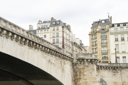 Photo for Cityscape with river and bridge in Paris, France - Royalty Free Image