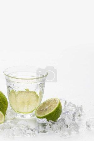 Photo pour Cocktail mojito et glaçons - image libre de droit
