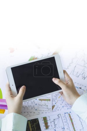 Photo for Woman using digital tablet - Royalty Free Image