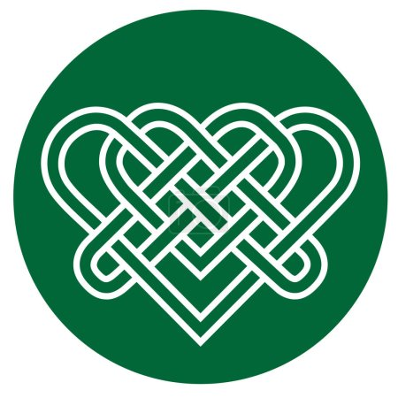 Photo for Illustration of traditional Celtic ornament element on green - Royalty Free Image