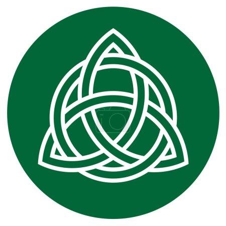illustration de l'élément d'ornement celtique traditionnel sur vert