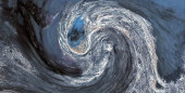 Abstract photography with wave effect, art  digital, abstract, yin yang symbol,