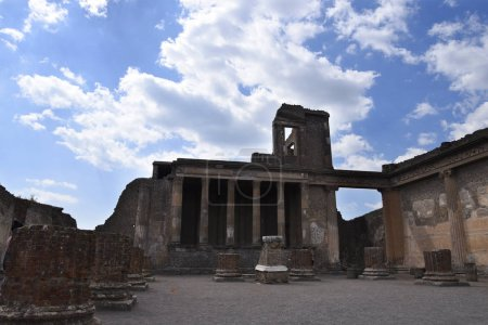 The Basilica or meeting place in the once buried R...