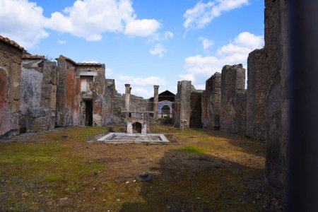 The once buried Roman city of Pompeii south of Nap...
