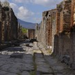 Paved street in the once buried Roman city of Pomp...